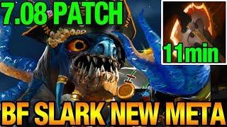 Battle Fury 11min NEW META 7.08? - Slark Vroksnak Dota 2