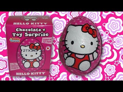 Unboxing Hello Kitty Chocolate Surprise Eggs - Part 3