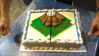 Cutting Sheet Cake - Fishing Line Method