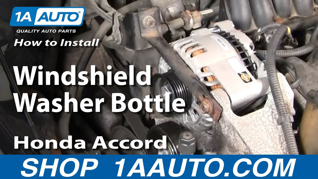 How To Install Replace Windshield Washer Bottle Honda