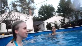 Repeat youtube video teen crossing in and out the pool