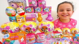 LOL Surprise, Hatchimals, Shopkins, Kinder Surprise, Trolls, Surprise Eggs Toys for Kids