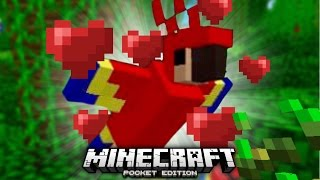 Taming PARROTS in Minecraft PE!!! (MCPE Parrot Addon)