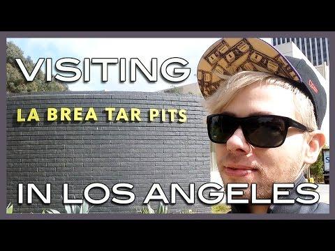 visiting the La Brea tar pits in L.A.