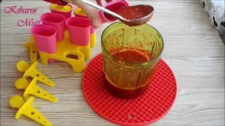 Meybuz dondurma nasıl yapılır-Ev yapımı çilekli meybuz tarifi-Kendin yap