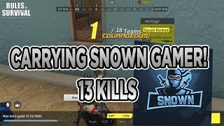ROS: Carrying SNOWN GAMER 13 KILLS - Rules of Survival