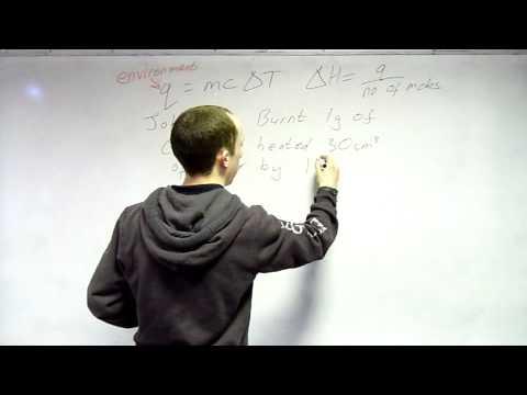 3.1.4- Energetics - Enthalpy Change Calc