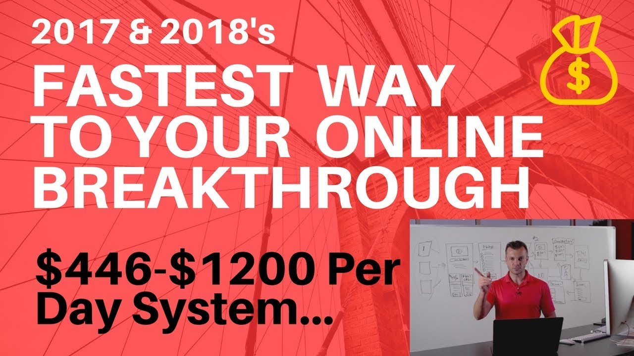 How to make money online 2017 & 2018 Earn a fast 3 day breakthrough training