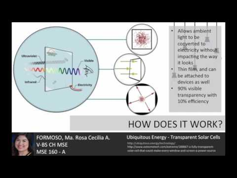 Transparent Solar Cells - Rosa Formoso