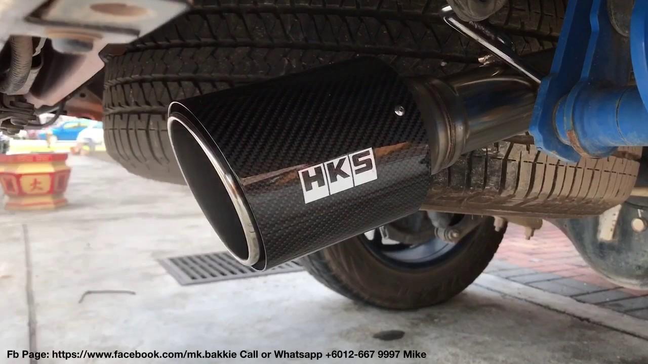 hks legamax carbon tip exhaust for