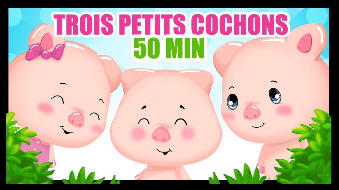 trois petits cochons dessin anim en fran ais 50 min de contes pour les enfants titounis. Black Bedroom Furniture Sets. Home Design Ideas