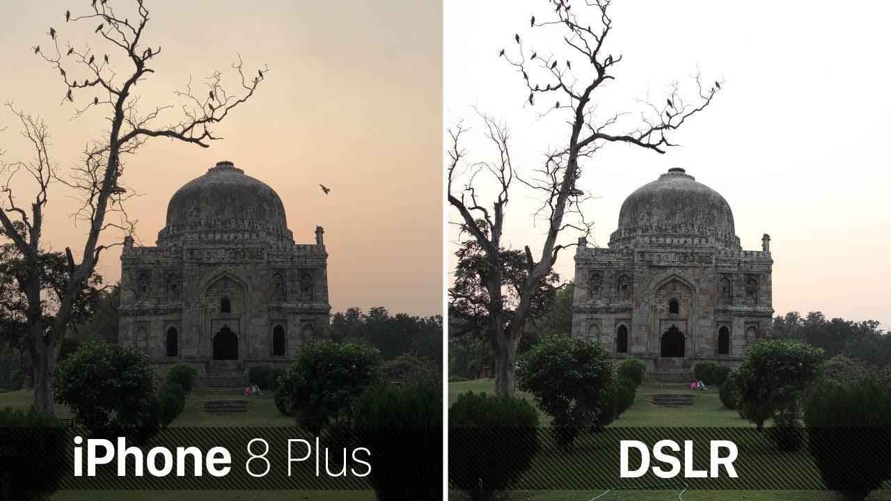 iphone x vs dlsr camera
