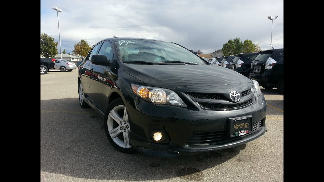 2012 Toyota Corolla Xrs 5 Speed Start Up Exterior