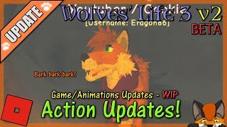 Roblox - Wolves' Life 3 v2 BETA - ACTION UPDATES! #31 - HD