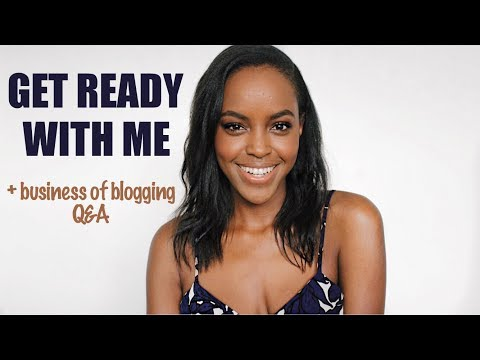 GET READY WITH ME + BUSINESS OF BLOGGING Q&A | THIS IS ESS