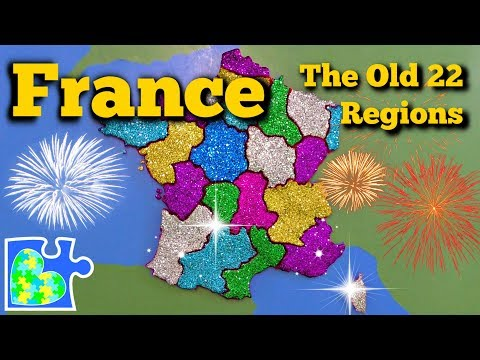 FRANCE MAP BEFORE 2016 || 22 Regions Of Old France! || World Geography For Kids