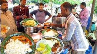 Wife and Husband Selling Roadside Meals Hyderabad | Chicken Rice @ 70 Rs Only |BotyRice @ 70 Rs Only