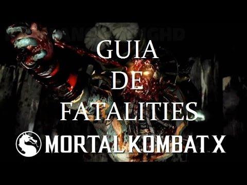 GUIA DE  FATALITIES MORTAL KOMBAT X (Secretos)