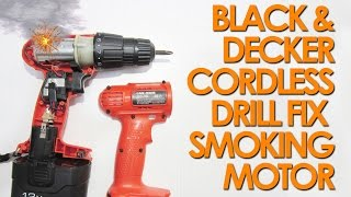 Quick fix BlackDecker 12v cordless drill smoking sparking motor
