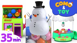 Como | Capsule toy + More episode 35min | Learn colors and words | Como Kids TV