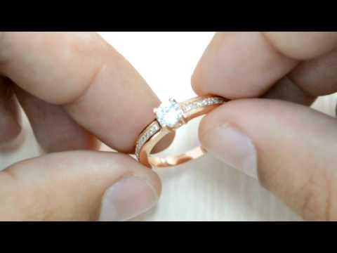 Кольцо из медицинского золота бижутерия WomenCity