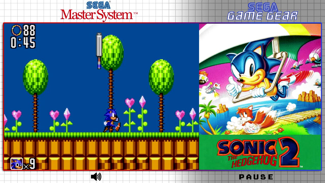 Sonic The Hedgehog 2 Master System Game Gear Comparison Dual Longplay Youtube