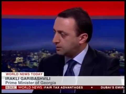 "Prime Minister Irakli Garibashvili in ""BBC World News"" live interview."