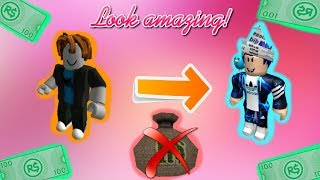 How to look cool on roblox without robux or Bc! For boys!