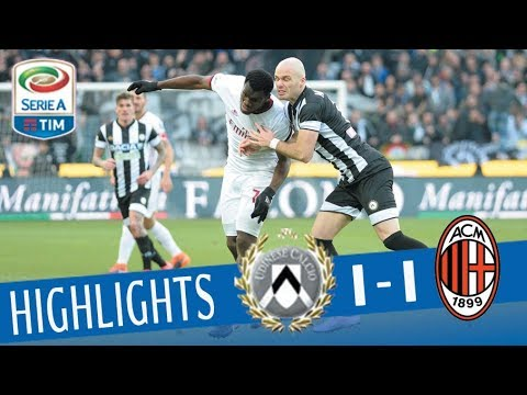 Udinese - Milan 1-1 - Highlights - Giornata 23 - Serie A TIM 2017/18