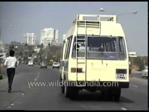 Bombay city from 1980's - archival footage of Mumbai