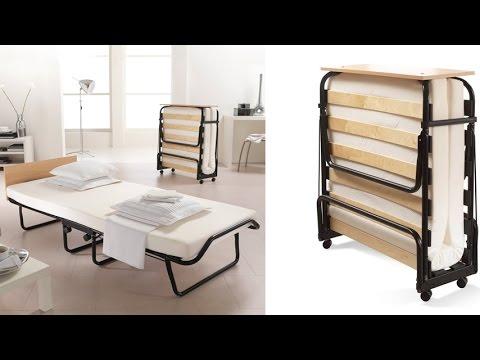 Jay-Be Sensation Folding Bed with Headboard, Memory Foam Mattress ...