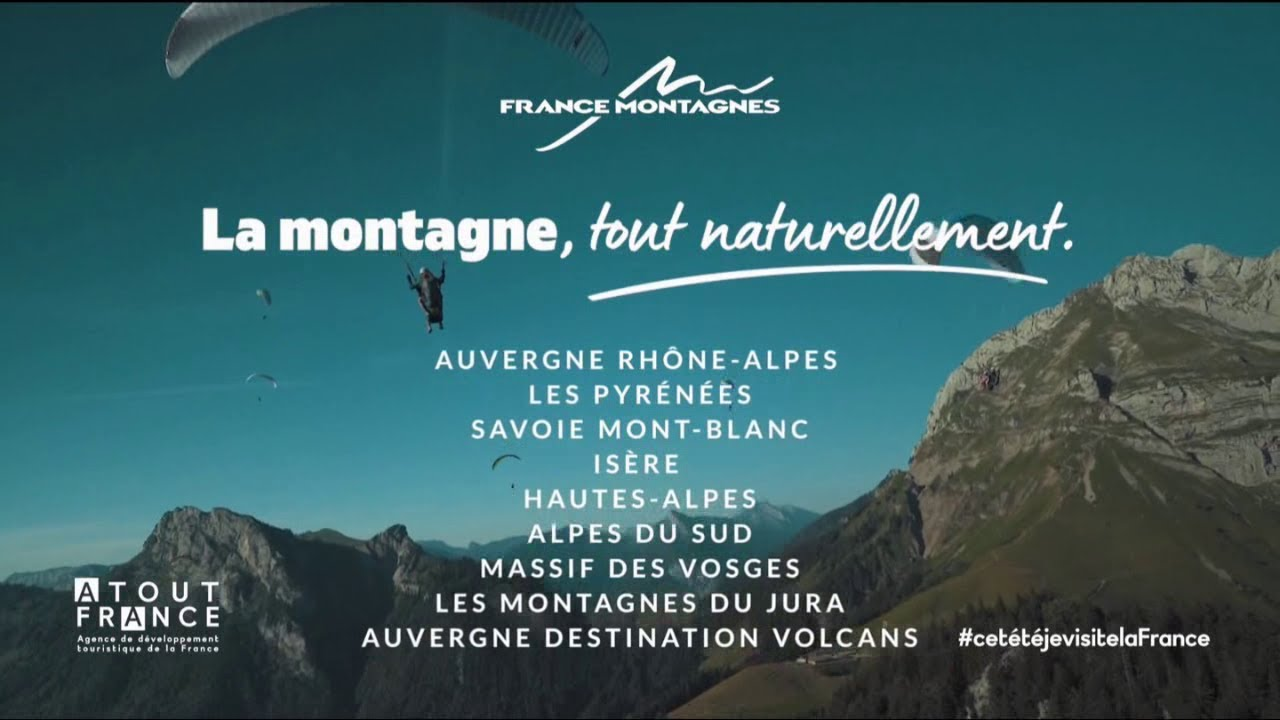 """Musique de la pub France Montagne """"La montagne, tout naturellement."""" Pub 25s Mai 2021"""