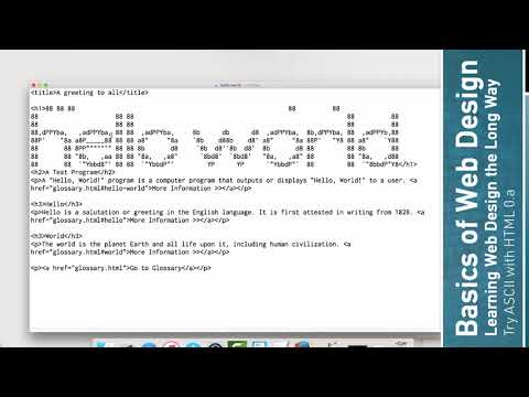 Learn HTML: Playing With ASCII