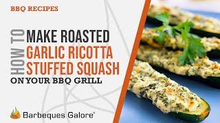 Roasted Garlic Ricotta-stuffed Squash