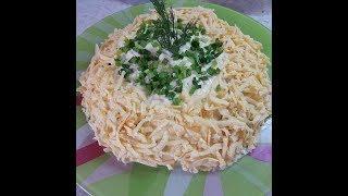 Салат с жаренными грибами