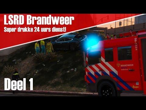 GTA 5 LSRD Brandweer - Super drukke 24 uurs dienst! [Deel 1]
