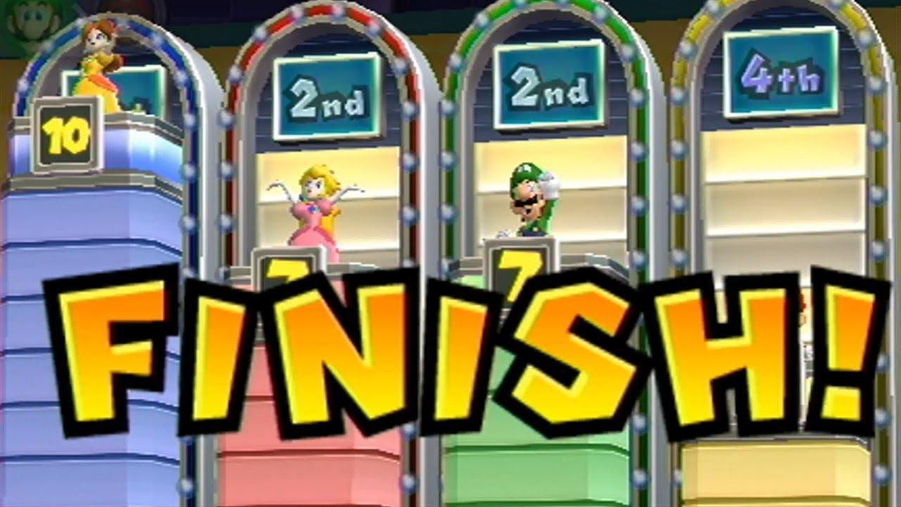 Mario Party 9 Step It Up 157 4 Players Daisy Vs Peach Vs Luigi