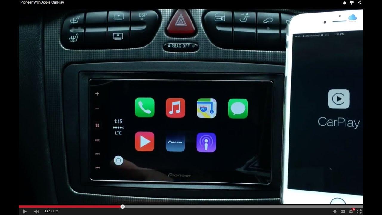 Pioneer Radio With Apple Carplay Youtube