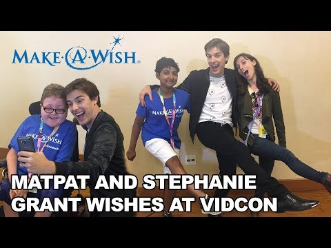 Vidcon 2017 - MatPat and Stephanie Grant Wishes