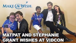 MatPat and Stephanie Grant Wishes with Make-A-Wish at VidCon 2017!