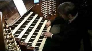 Olivier Latry at the organ at the Cathedral of Notre Dame thumbnail