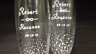 How To Design Simple Yet Elegant Wedding Champagne Flutes - DIY Crafts Tutorial - Guidecentral