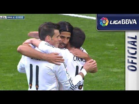 Gol de Khedira (4-0) en el Real Madrid - Real Sociedad - HD