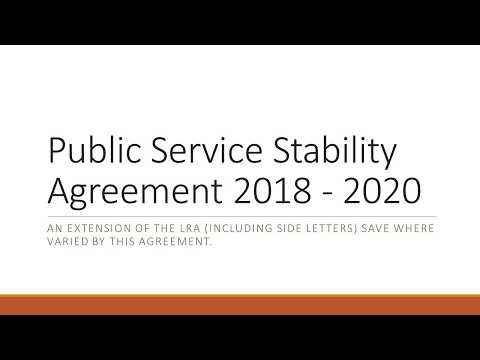 Public Service Stability Agreement  2018 2020 Explained