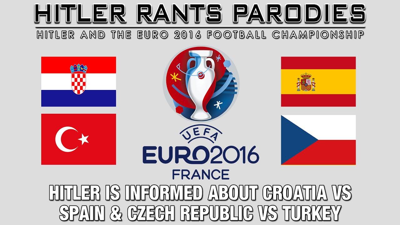 Hitler is informed about Croatia Vs Spain & Czech Republic Vs Turkey