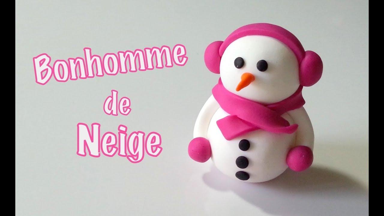 Tuto Fimo Le Bonhomme De Neige