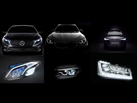 Headlight Technology Compare : Mercedes Multibeam LED vs BMW Adaptive LED vs Audi Matrix LED