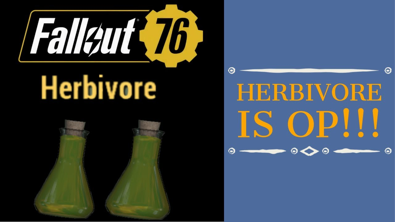 Stealth Buff to Carnivore & Herbivore. Patch 20 Made Me VEGETARIAN - Fallout 76 Wastelanders