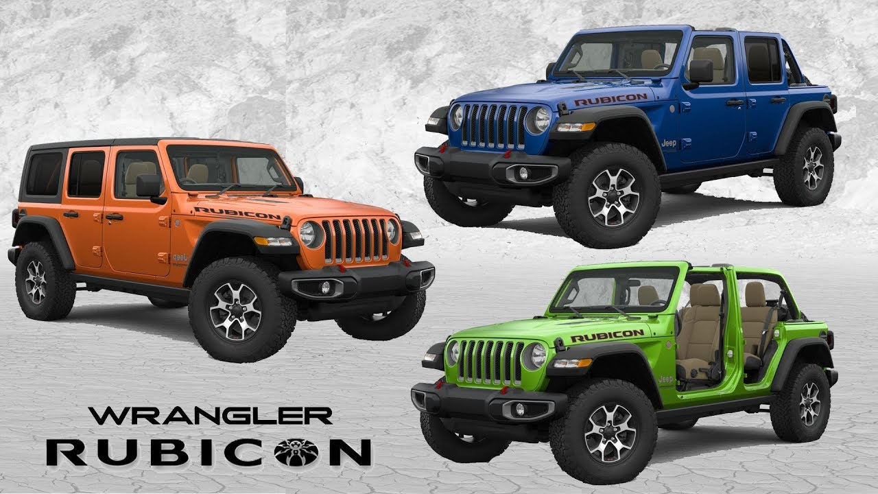 Jeep Wrangler Colors >> 2019 Jeep Wrangler Rubicon Color Options Youtube