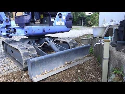 素人の井戸ポンプ利用の水道造り part2 ユンボや軽トラダンプで埋設完成編